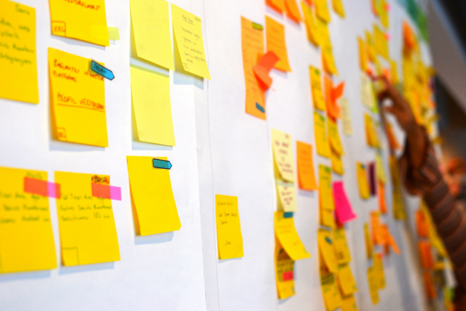 Wall full of stickies